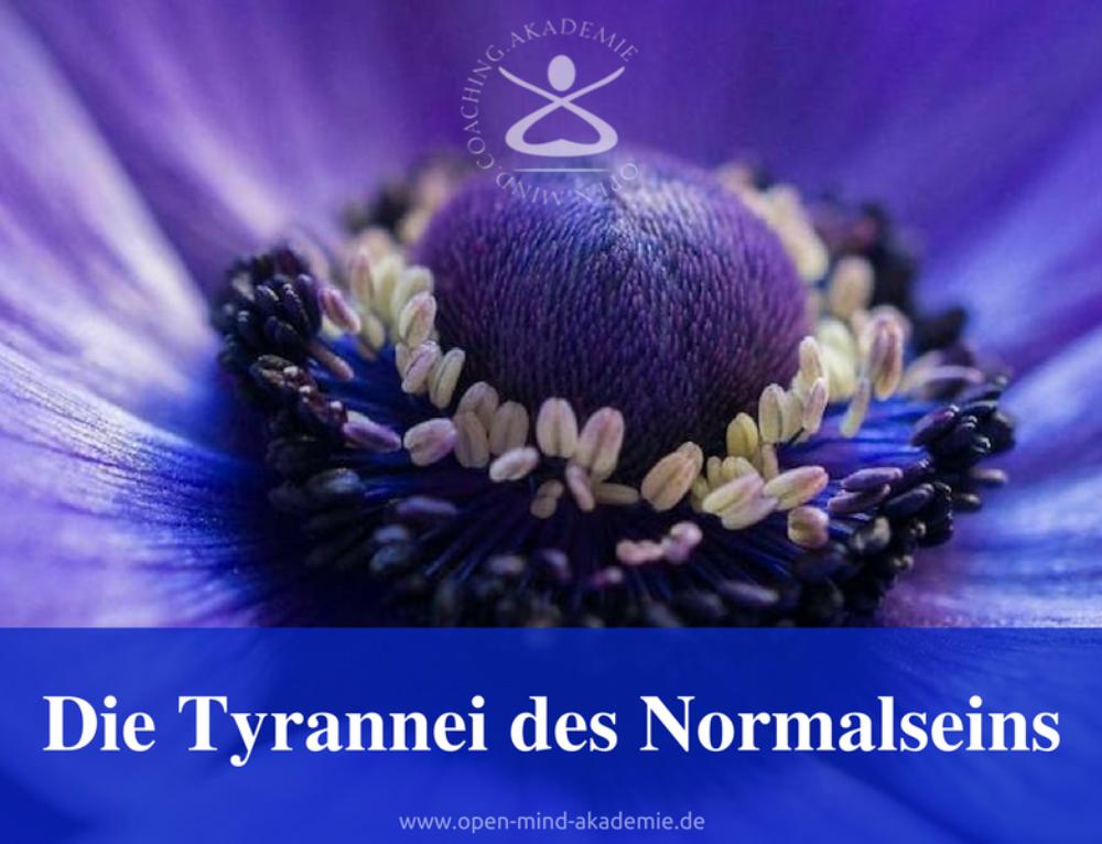 Die Tyrannei des Normalseins
