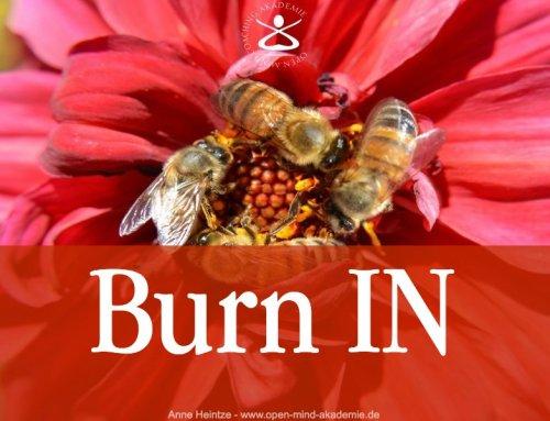 Burnout ist so was von out. Burn in ist der Schlüssel. Kennst du ihn?
