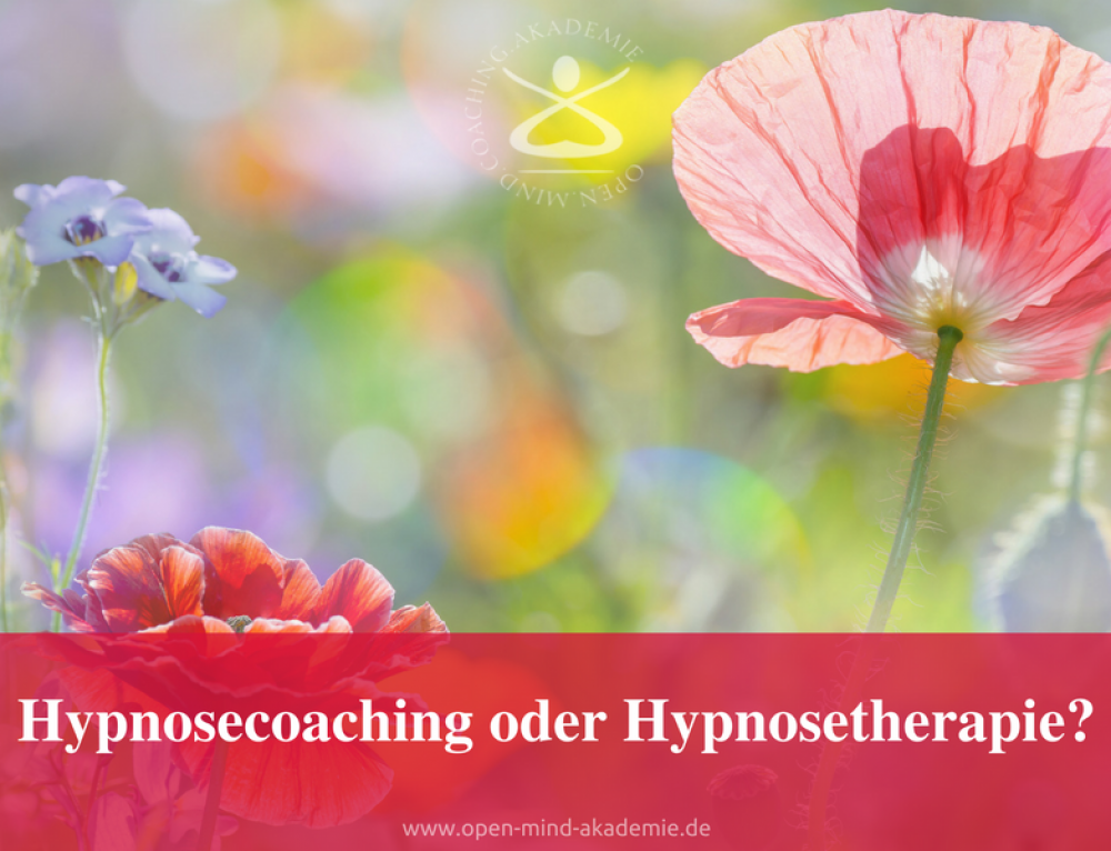 Hypnosecoaching oder Hynosetherapie?