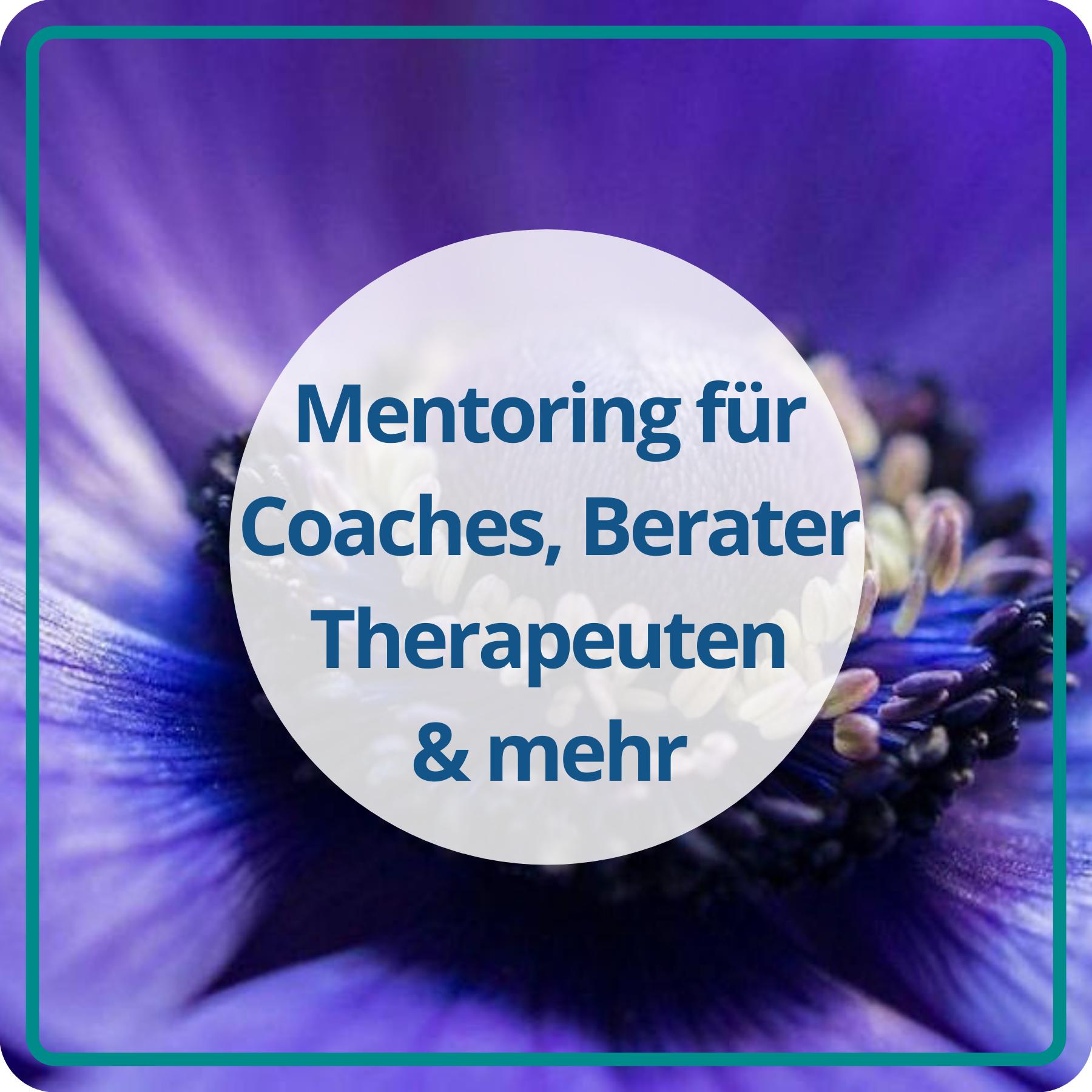 Mentoring für Coaches, Therapeuten, Heiler, Berater